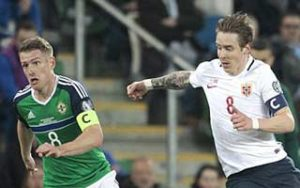 World Cup 2018 Qualifiers                             – Group C Northern Ireland 2-0 นอร์เวย์ 26-03-2017